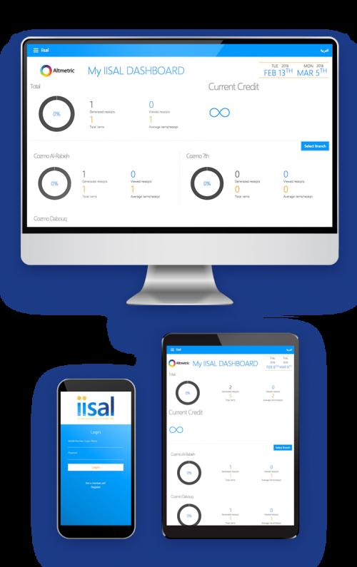iisal Digital Receipt Dashboard